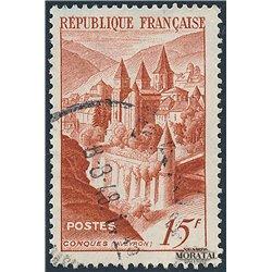 1947 Frankreich Mi# 823  (o) Gebrauchte, Zustand. Abtei Conques (Michel)  Kloster-Tourismus