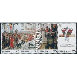 1987 Espagne 2502/2505  Constitution Organismes **MNH TTB Très Beau  (Yvert&Tellier)