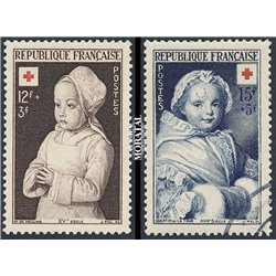 1951 France  Sc# B264/B265  (o) Used, Nice. Red Cross (Scott)  Red Cross