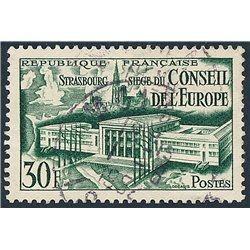 1952 France  Sc# 679  (o) Used, Nice. Council of Europe. (Scott)