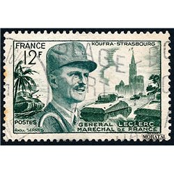 1954 France  Sc# 692A  (o) Used, Nice. Marshal Leclerc (Scott)  Personalities