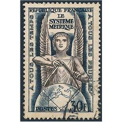 1954 France  Sc# 732  (o) Used, Nice. Metric System (Scott)