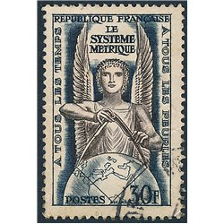 1954 France  Sc# 732  (o) Used, Nice. Metric System (Scott)