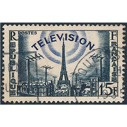 1955 France  Sc# 766  (o) Used, Nice. French in Television (Scott)