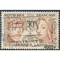 1956 France  Sc# 795  (o) Used, Nice. France-EEUU. (Scott)