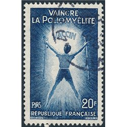 1959 France  Sc# 933  (o) Used, Nice. Poliomyelitis (Scott)