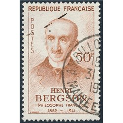 1959 France  Sc# 934  (o) Used, Nice. Henri Bergson (Scott)  Personalities