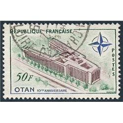 1959 Frankreich Mi# 1272  (o) Gebrauchte, Zustand. 10 Jahre NATO (Michel)