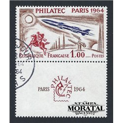 1964 France  Sc# 1100  (o) Used, Nice. PHILATEC 1964 (Scott)  Personalities