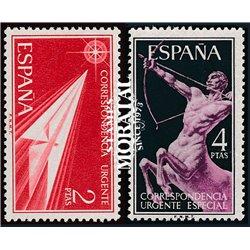 1956 Espagne Exprès31/33  Allégories  *MH TB Beau  (Yvert&Tellier)