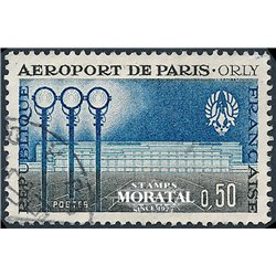 1961 France  Sc# 986  0. Orly Airport (Scott)  Planes