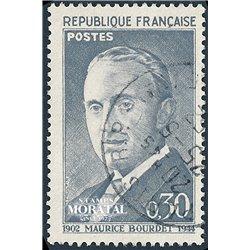 1962 France  Sc# 1021  0. Maurice Bourdet (Scott)  Personalities