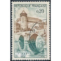 1962 France  Sc# 1023  0. Laval, Mayenne (Scott)  Tourism