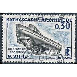 """1963 Frankreich Mi# 1421  0. Tiefseetaucher """"Archimêde"""" (Michel)  Boote"""
