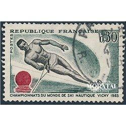 1963 Frankreich Mi# 1449  0. Wasserskiläufer (Michel)  Sport