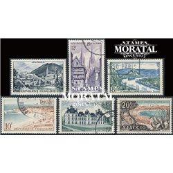 1954 Frankreich Mi# 1004/1009  0. Landschaften (Michel)  Tourismus