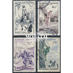 1956 France  Sc# 801/804  0. Sports (Scott)