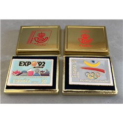 [02] 1992 Spain  Pin Stamps Spain Expo'92 Seville  Stamps in Perfect Condition. LUXE  ()