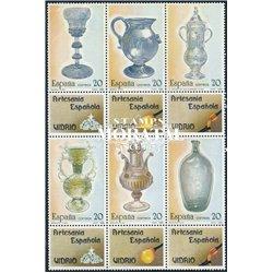 1988 Spanien 2820/2825 Zd-Bogen Glasbaustein Handwerk ** Perfekter Zustand  (Michel)