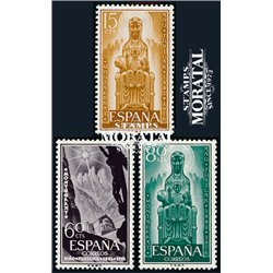 1956 Spain  Sc 849/851 Montserrat Monastery **MNH Very Nice, Mint Hever Hinged?  (Scott)