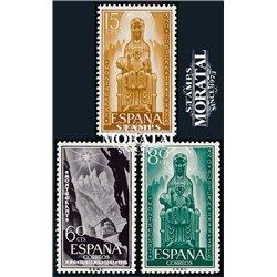 1956 Espagne 883/885  Montserrat Monastère-Tourisme *MH TB Beau  (Yvert&Tellier)