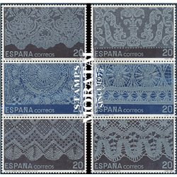 1989 España 3016/3021 Encajes Artesanía **MNH Perfecto Estado  (Edifil)