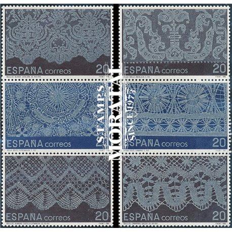 1989 Spanien 2895/2900  Spitze Handwerk ** Perfekter Zustand  (Michel)
