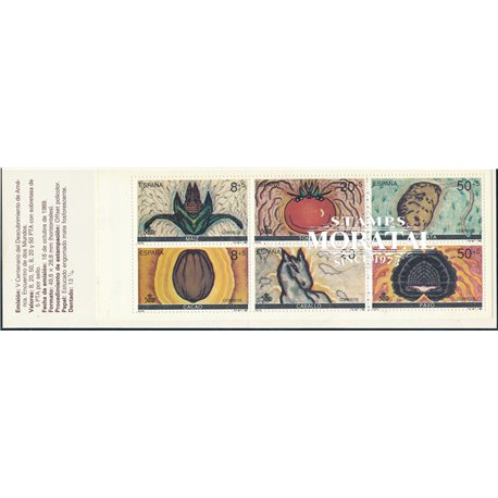 1989 Spanien 0 Markenheftchen Entdeckung Amerika  IV Amerika ** Perfekter Zustand  (Michel)