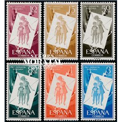 1956 Spain  Sc 857/862 Pro children Charity **MNH Very Nice, Mint Hever Hinged?  (Scott)