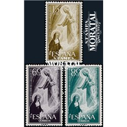1957 Spain  Sc 863/865 Sacred Heart Religious **MNH Very Nice, Mint Hever Hinged?  (Scott)