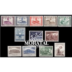 [22] 1955 Austria  Year Set Complete **MNH LUXURY   Stamps in Perfect Condition. LUXE ()