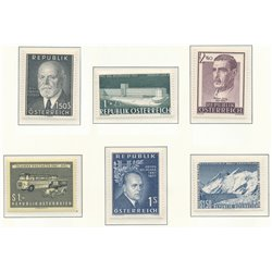 [22] 1957 Austria  Year Set Complete **MNH LUXURY   Stamps in Perfect Condition. LUXE ()
