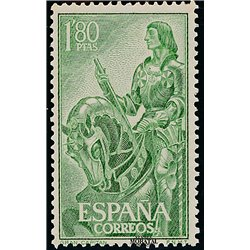 1958 Espagne 900  Grand Capitaine Personnalités **MNH TTB Très Beau  (Yvert&Tellier)
