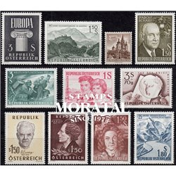 [22] 1960 Austria  Year Set Complete **MNH LUXURY   Stamps in Perfect Condition. LUXE ()