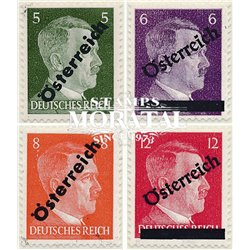 [23] 1945 Austria Sc 390/393 German stamps. Hitler overloaded  ** MNH Very Nice Stamps in Perfect Condition. (Scott)