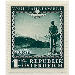 [23] 1945 Austria Sc B165 In favor of the Benefit Works  ** MNH Very Nice Stamps in Perfect Condition. (Scott)