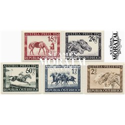 "[23] 1946 Austria Sc B179/183 Grand Prix ""Austria""  ** MNH Very Nice Stamps in Perfect Condition. (Scott)"
