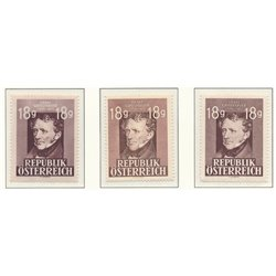 [23] 1947 Austria Sc 489/490i 75th Death of Franz Grillparzer  ** MNH Very Nice Stamps in Perfect Condition. (Scott)