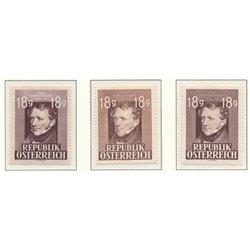 [23] 1947 Österreich Mi 802/8002II 75. Tod von Franz Grillparzer  ** Perfekter Zustand Briefmarken in perfektem Zustand. (Michel
