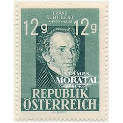 [23] 1947 Austria Sc 491 Franz schubert  ** MNH Very Nice Stamps in Perfect Condition. (Scott)