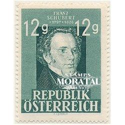 [23] 1947 Austria Sc 491 Franz schubert  ** MNH Very Nice Stamps in Perfect Condition. (Scott)
