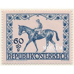[23] 1947 Austria Sc B207 Equestrian Derby of the City of Vienna  ** MNH Very Nice Stamps in Perfect Condition. (Scott)