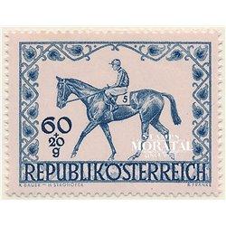 [23] 1947 Österreich Mi 811 Reiterderby der Stadt Wien  ** Perfekter Zustand Briefmarken in perfektem Zustand. (Michel)