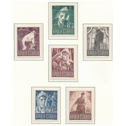 [23] 1947 Austria Sc B218/223 In favor of Prisoners of War  ** MNH Very Nice Stamps in Perfect Condition. (Scott)