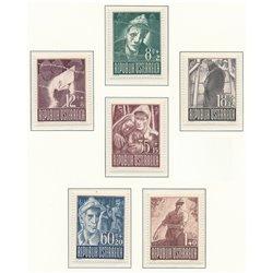 [23] 1947 Österreich Mi 829/834 Für Kriegsgefangene  ** Perfekter Zustand Briefmarken in perfektem Zustand. (Michel)
