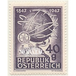[23] 1947 Austria Sc 495 Centenary of the Austrian Telegraph  ** MNH Very Nice Stamps in Perfect Condition. (Scott)