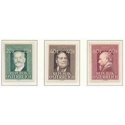 [23] 1948 Österreich Mi 855/857 Jahrestage  ** Perfekter Zustand Briefmarken in perfektem Zustand. (Michel)
