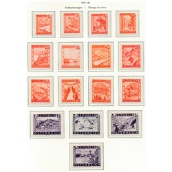 [23] 1948 Austria Sc 500/515 Current Series Various lists /  ** MNH Very Nice Stamps in Perfect Condition. (Scott)