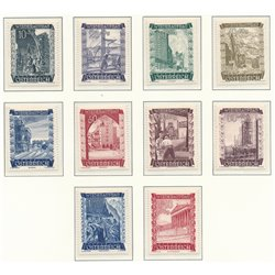 [23] 1948 Austria Sc B225/234 In favor of Reconstruction  ** MNH Very Nice Stamps in Perfect Condition. (Scott)