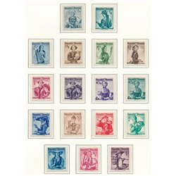 [23] 1948 Austria Sc 520/556+539/555 Regional Customs  ** MNH Very Nice Stamps in Perfect Condition. (Scott)